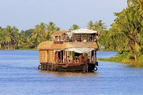 Houseboat on the backwaters of Kerala