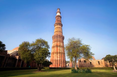 The Qutab Minar in Delhi