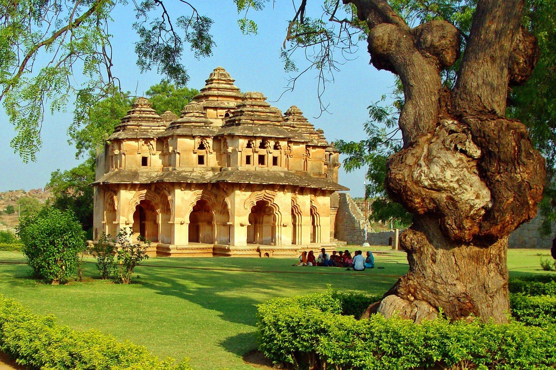 Lotus Mahal near Hosapete Junction Railway Station